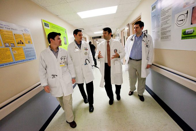 Joe Lezama, MD '97, is known for his ability to motivate and inspire younger physicians, evidenced by his numerous teaching awards. Internal medicine residents at the University of South Florida have voted him Teacher of the Year for five years.