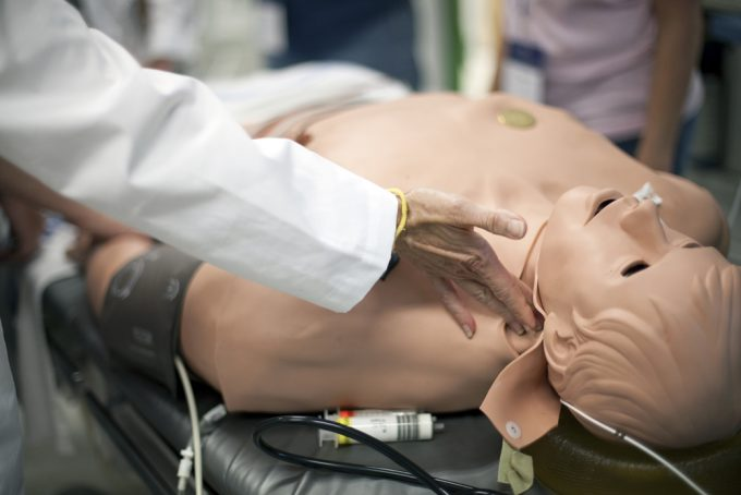 The Human Patient Simulator is a high-definition computerized teaching tool used in health care education programs throughout the world. Computers control the lifelike mannequins to automatically respond to injected medications, changes in mechanical ventilation and other therapies.