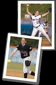 Stacey Stevens Schmiedecke, MD '12, during her Gator softball days.